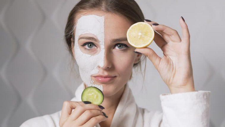 خلطة الليمون والخيار لتصفية الوجه
