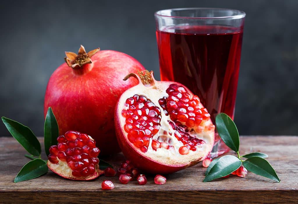 فوائد عصير الرمان لصحة الحامل والجنين